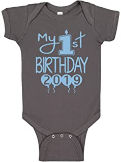 d7b421710 Reaxion Aiden's Corner Handmade First Birthday Baby Clothes - Baby Boys My  1st Birthday Bodysuits Shirts