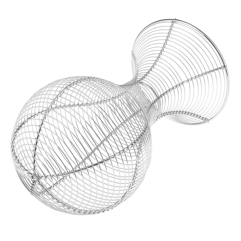 MagiDeal Soporte de Metal de Peluquero Forma de Cabeza Sostenedor de Peluca Casquillo Sombrero Casco Blanco Plateado