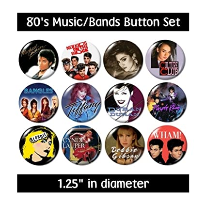 Amazon 80s MUSIC BUTTONS Pins Bands Groups 1980s Eighties New Everything Else