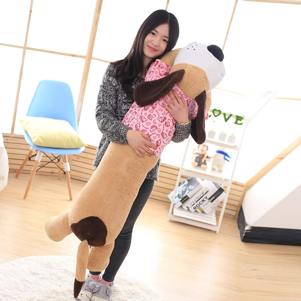Vercart Cute CuddlyクリエイティブHugging Pillow Stuffed Plush Animals Soft Toy枕ピンク59インチ B073S3XMSZ