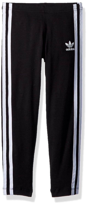 290717fdb68a0 Amazon.com: adidas Originals Girls' Big Originals 3-Stripes Leggings, Black/ White 4T: Clothing