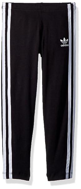 5bbec4cf3 adidas Originals Girls' Big Originals 3-Stripes Leggings, Black/White 4T