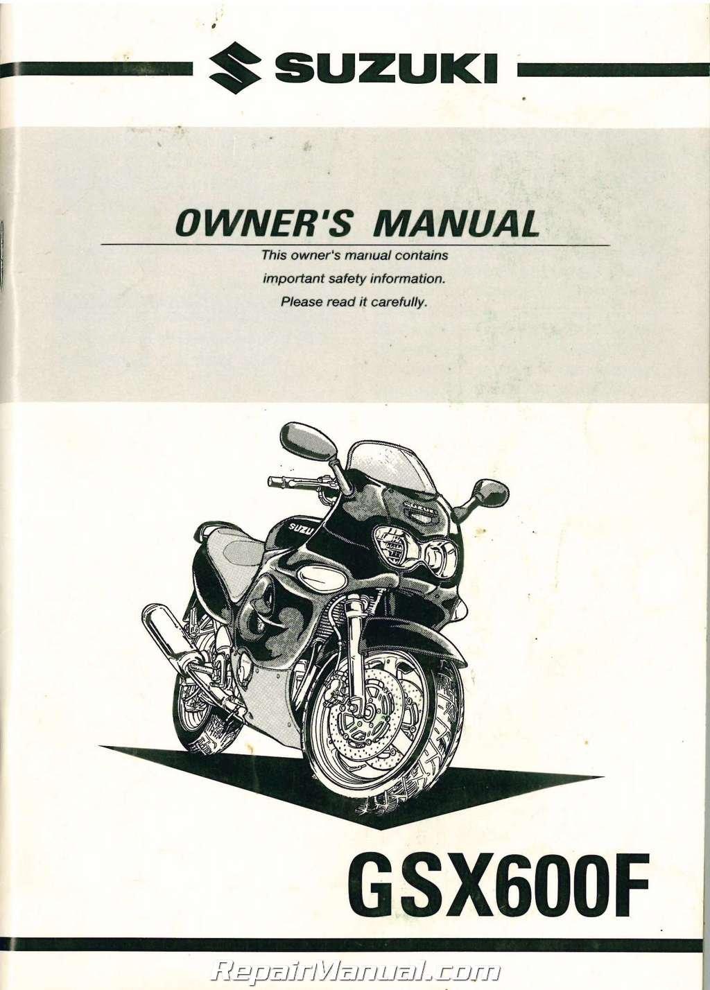 99011-19C62-03A 1999-2000 Suzuki Katana GSX600F Motorcycle Owners Manual:  Manufacturer: Amazon.com: Books