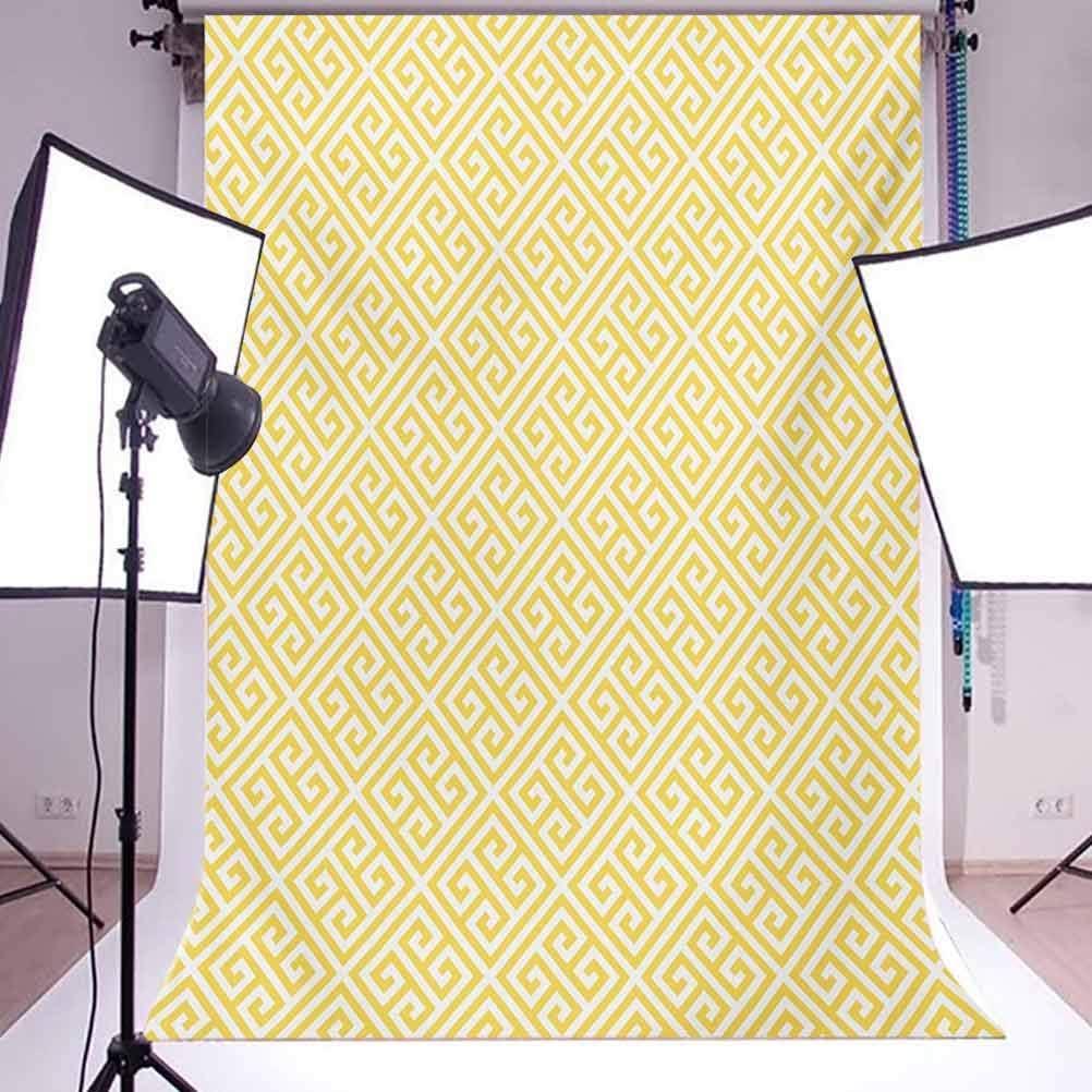 Greek Key 6.5x10 FT Photo Backdrops,Ancient Roman Culture Themed Minimalist Pattern Meander Diagonal Squares Tile Background for Child Baby Shower Photo Vinyl Studio Prop Photobooth Photoshoot