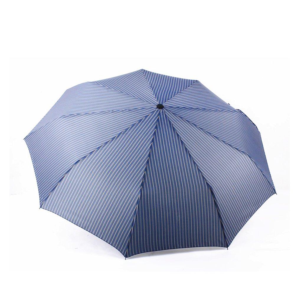 BXT Unisex Adults Classic Stripe Pinstripes Slim Umbrella Automatic Auto Compact/Folding 9 Ribs Fiberglass Super Windproof Anti-UV Travel Umbrellas for Rain Sun Protection