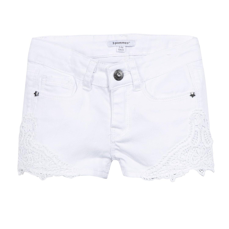 3POMMES Short en jean avec broderie fille