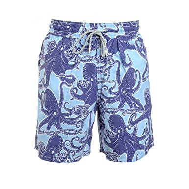 e576d5521f Vilebrequin Sky Blue Octopus Print Swimshorts: Amazon.co.uk: Clothing