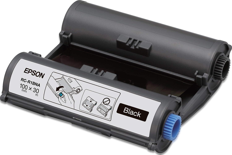 Epson Cinta RC-R1BNA negra 100 mm - Etiquetas de impresora (Negro ...