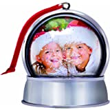 Photo Snow Globe Christmas Ornament with Magnet