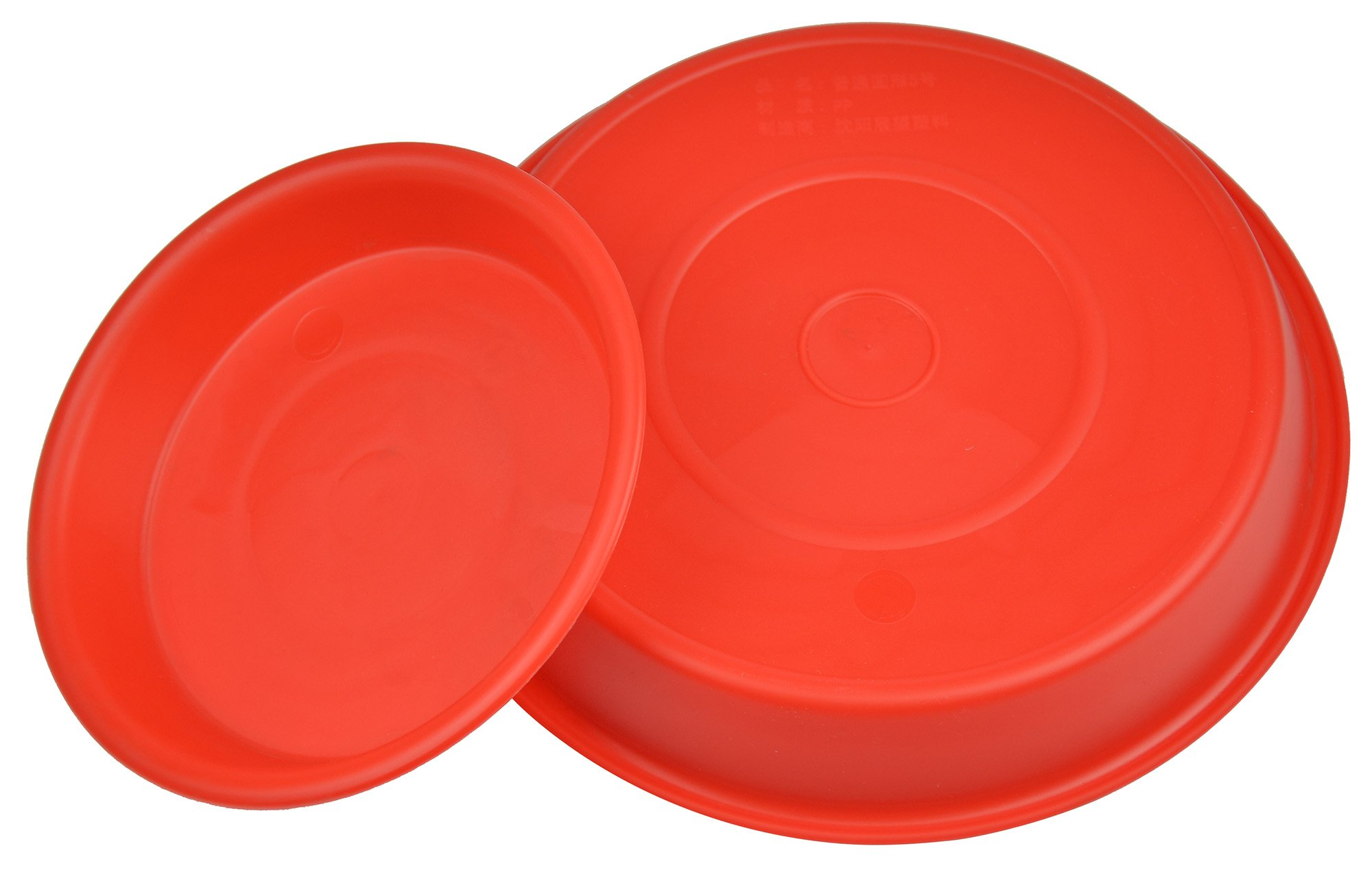 7.7'' Round Plant Saucer Planter Tray Pat Pallet for Flowerpot,Red,960 Count by Zhanwang (Image #2)