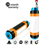 JingooBon Camping Lantern, USB Rechargeable LED Camp Light, Multifunctional Camping Lanterns, [Camping Accesories][Camping Gear] Portable Hanging Magnetic Power Bank Waterproof for Hiking [1-Pack]