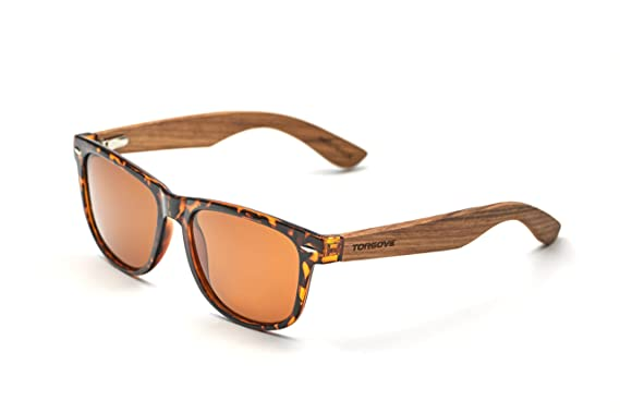 Wayfarer Bambus Holz Sonnenbrille Fashion Unisex 3/3 idsW88