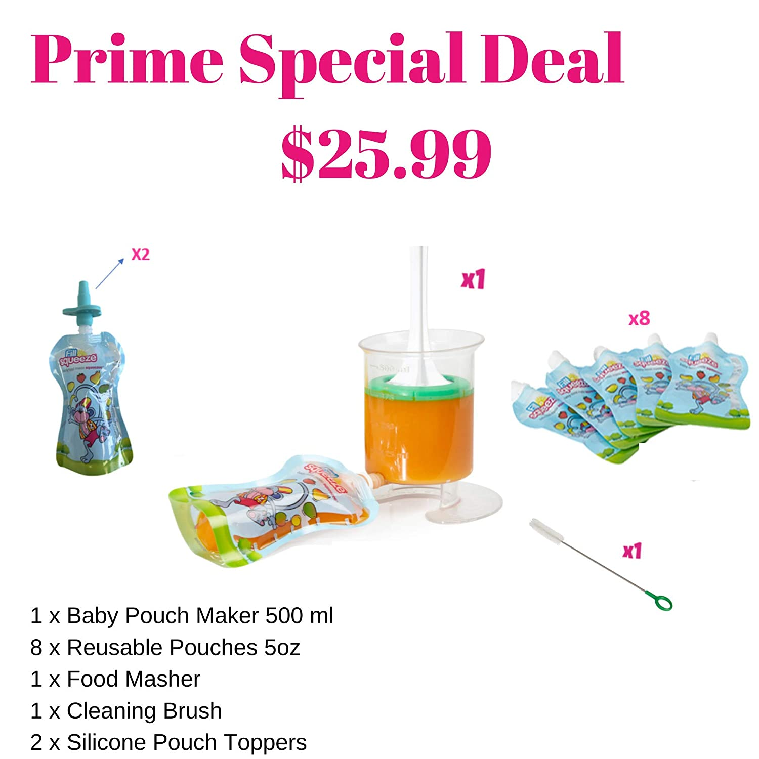 Baby Food Maker Make Your Own Babyfood Squeeze Pouches Easy To Use Makes Fo Dish