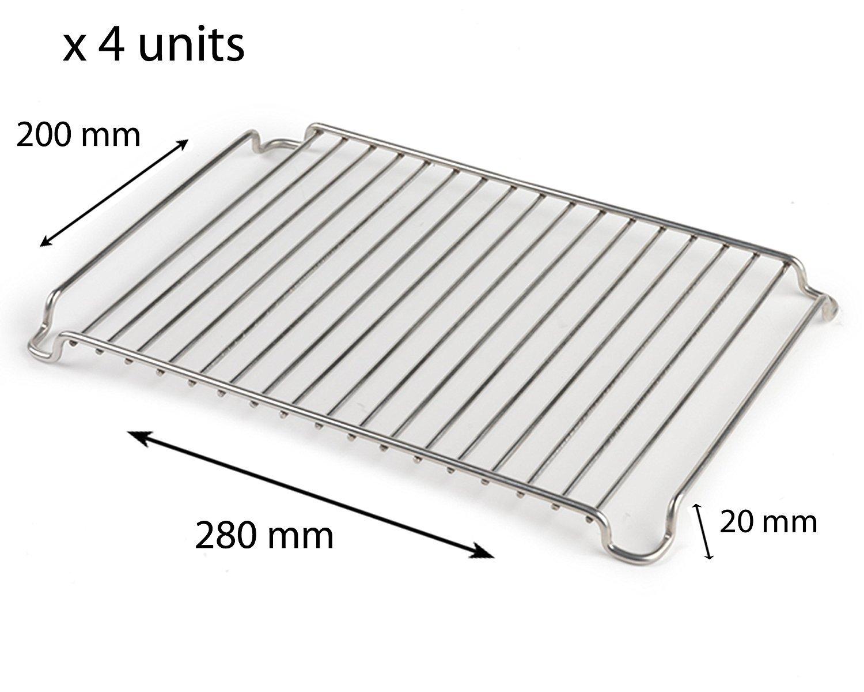 Stainless Steel 280mm x 200mm Cooling Roasting Rack RACK0028 x 2 ...