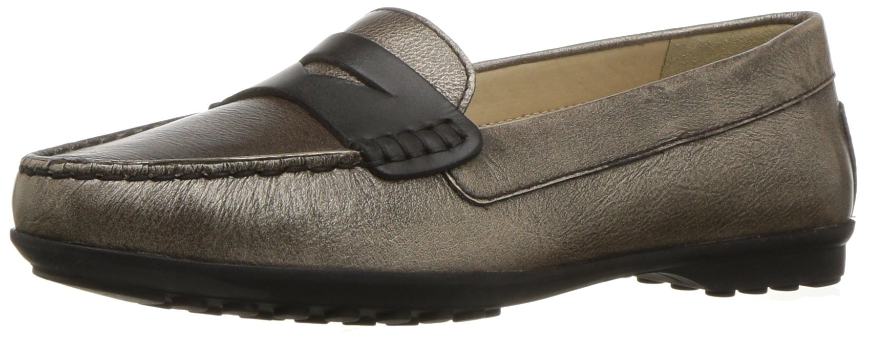 Geox Women's Elidia 5 Slip-on Loafer, Champagne/Anthracite, 35 EU/5 M US