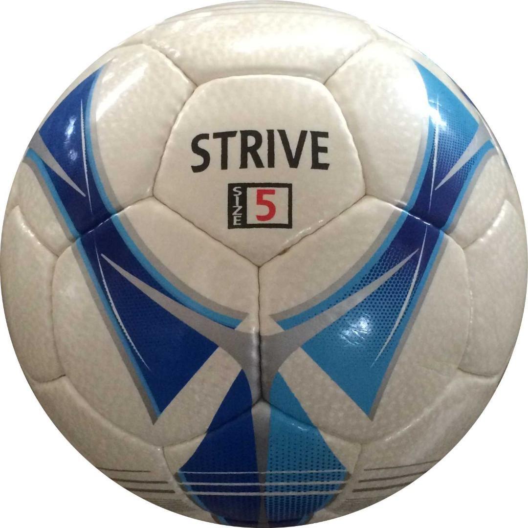 Perrini Striveインドアアウトドアスポーツシルバーブルーサッカーボールと一致サイズ5 B076LVYJHN