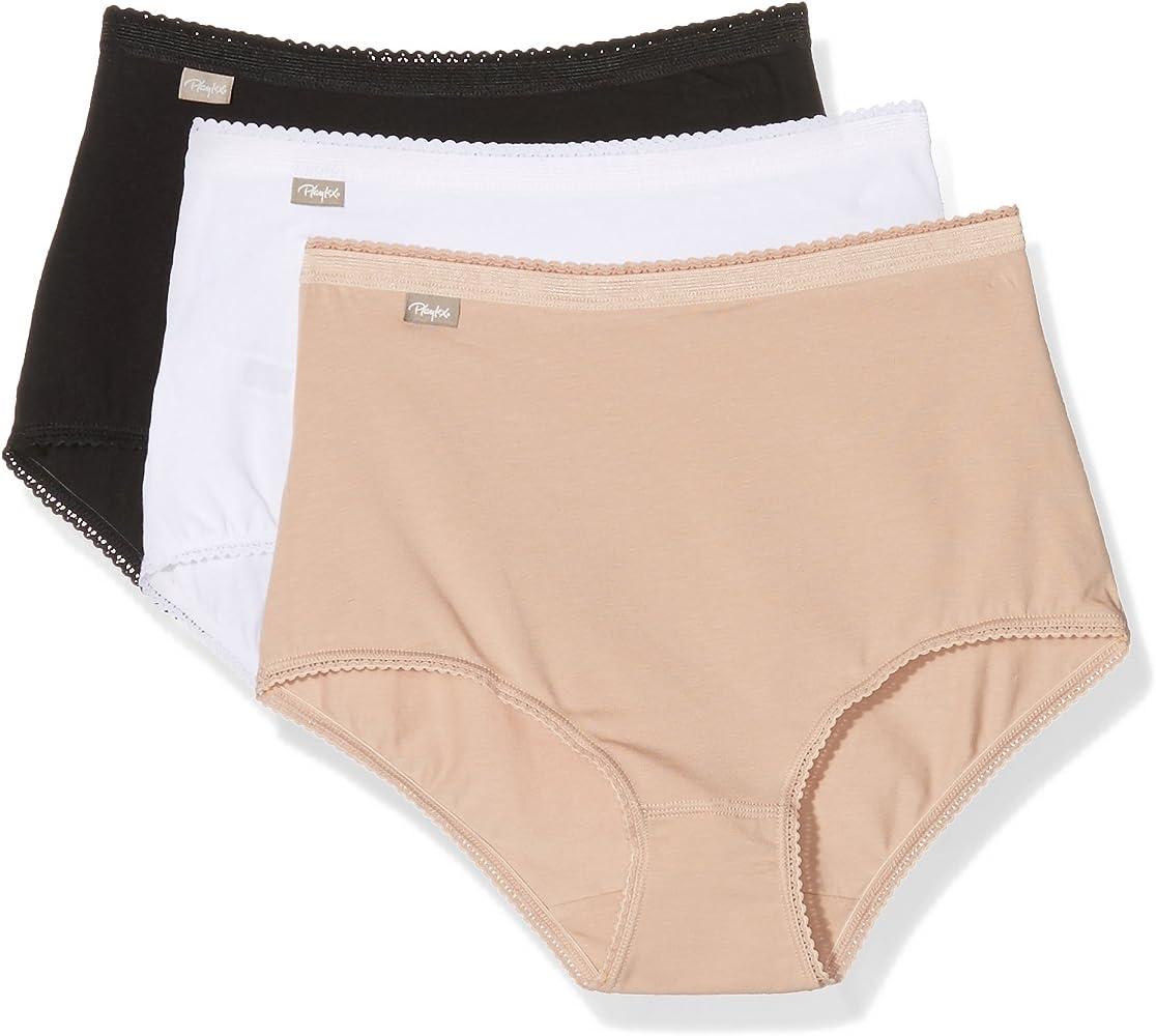 Playtex 00BQ - Bragas Para Mujer, Pack de 3, Multicolor (Blanco ...