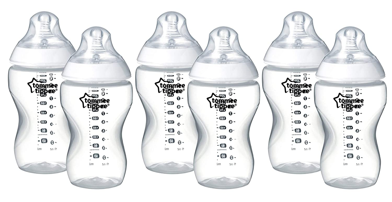 Tommee Tippee Closer to Nature Clear Bottles, 340 ml, 2 Count 2342262071