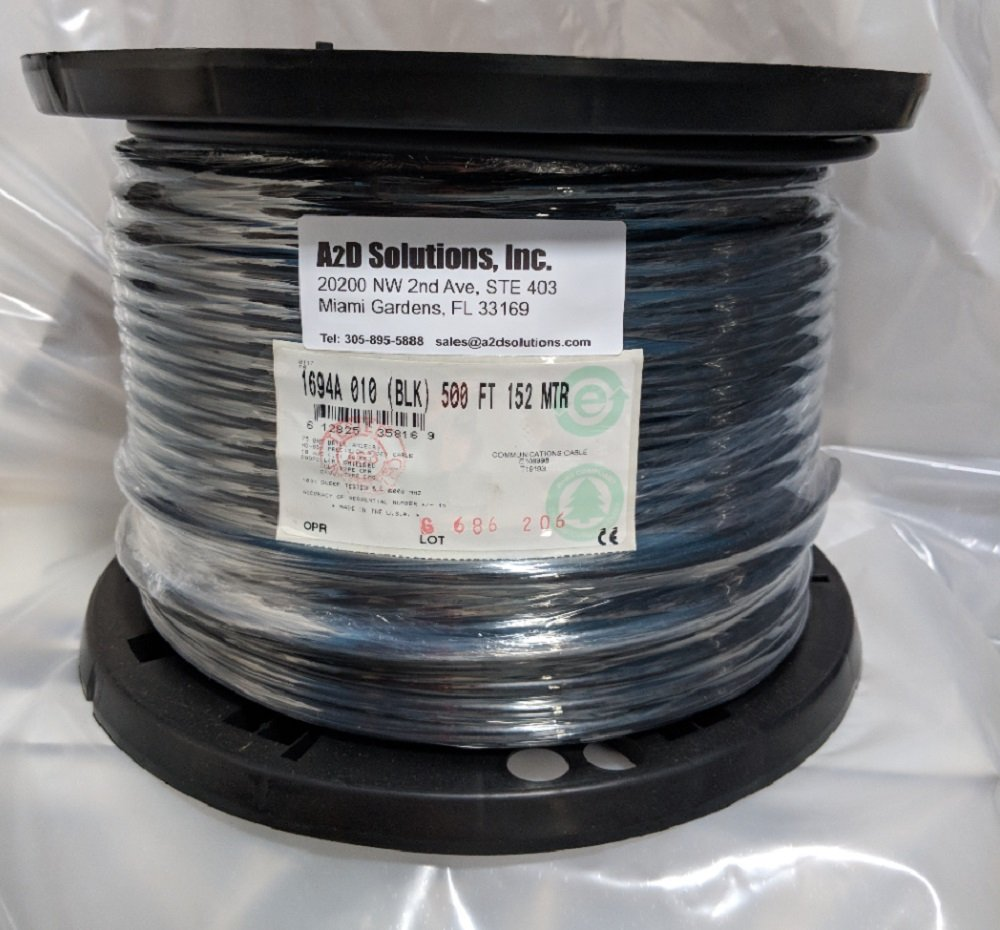 Belden 1694A RG-6/U Coaxial Cable for Audio and Video 18 AWG Copper Conductor 75 Ohm 500 ft. USA by Belden