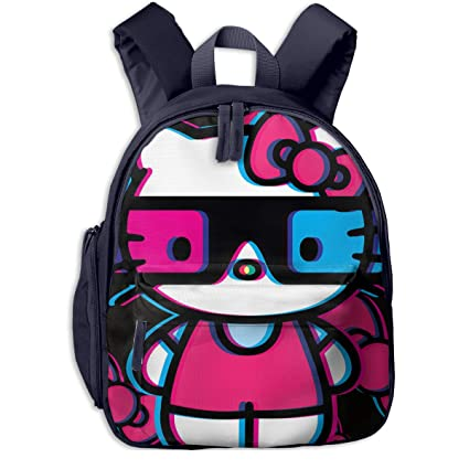 Image Unavailable. Image not available for. Color  CHLING Hello Kitty Print  School Backpacks for Girls Boys Kids Elementary School Bags ... dda5fbfb41dc6