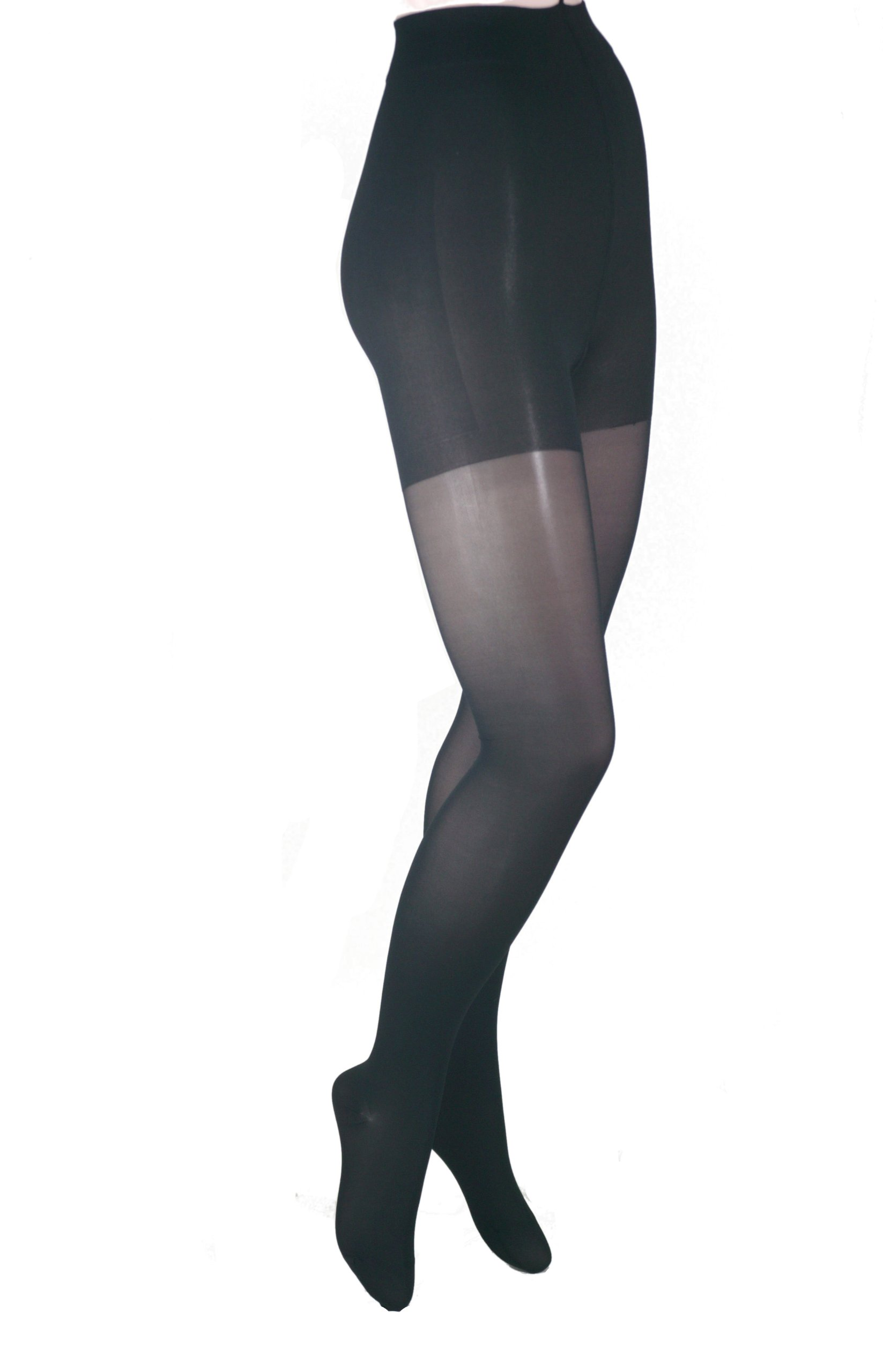 ITA-MED Sheer Pantyhose, Compression (20-22 mmHg) Black, X-Tall, 2 Count