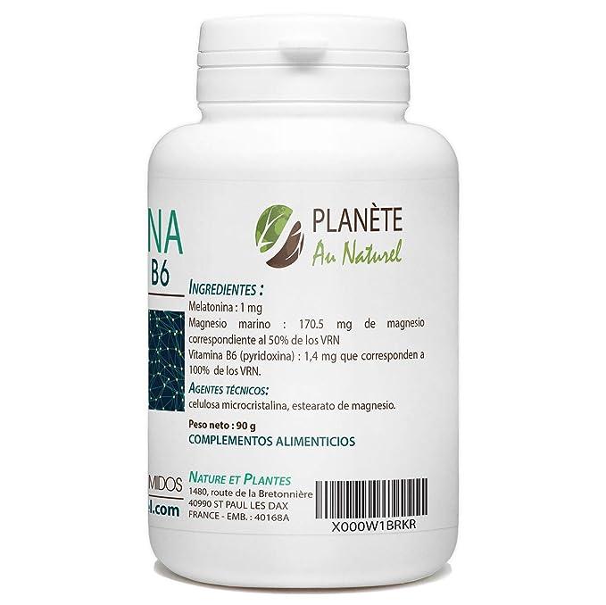 Melatonina 1mg - Magnesio y Vitamina B6-180 comprimidos: Amazon.es: Salud y cuidado personal