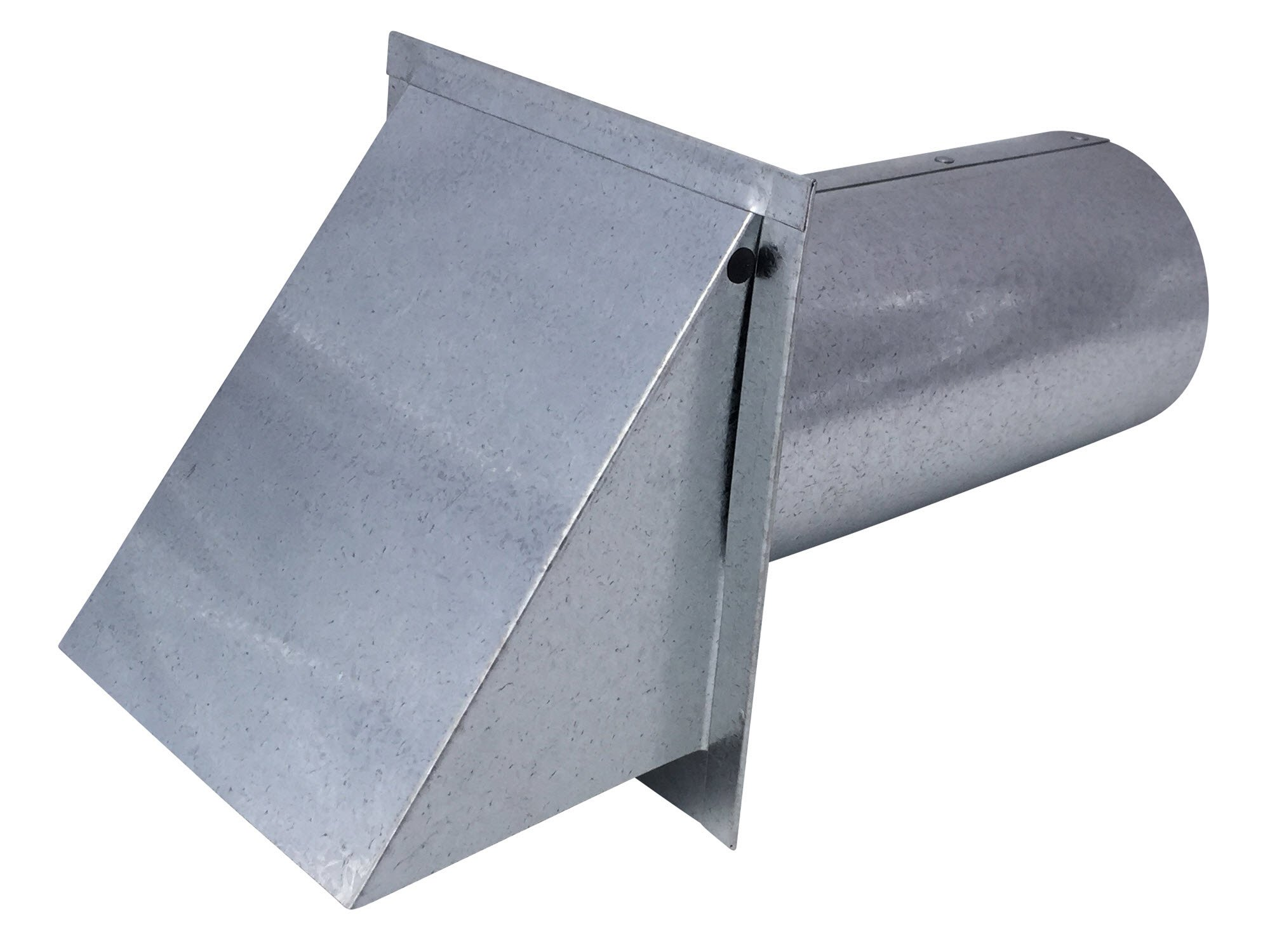 5 Inch Wall Vent Galvanized Damper & Screen (5 Inch Diameter) - Vent Works