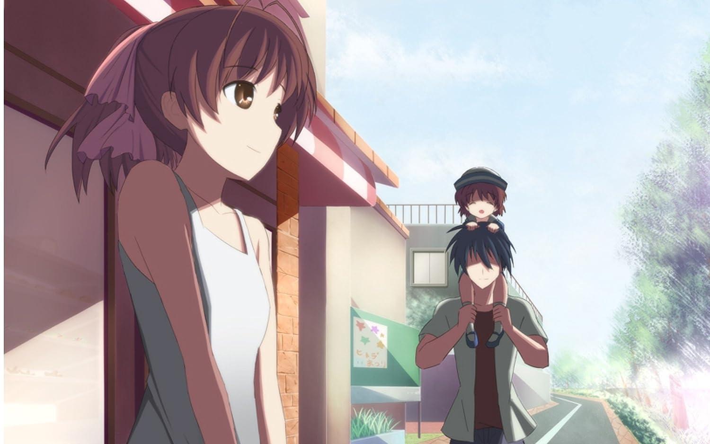 Posterhub Anime Clannad Nagisa Furukawa Ushio Okazaki Tomoya