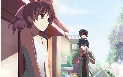 Posterhouzz Anime Clannad Nagisa Furukawa Ushio Okazaki Tomoya Wall Poster