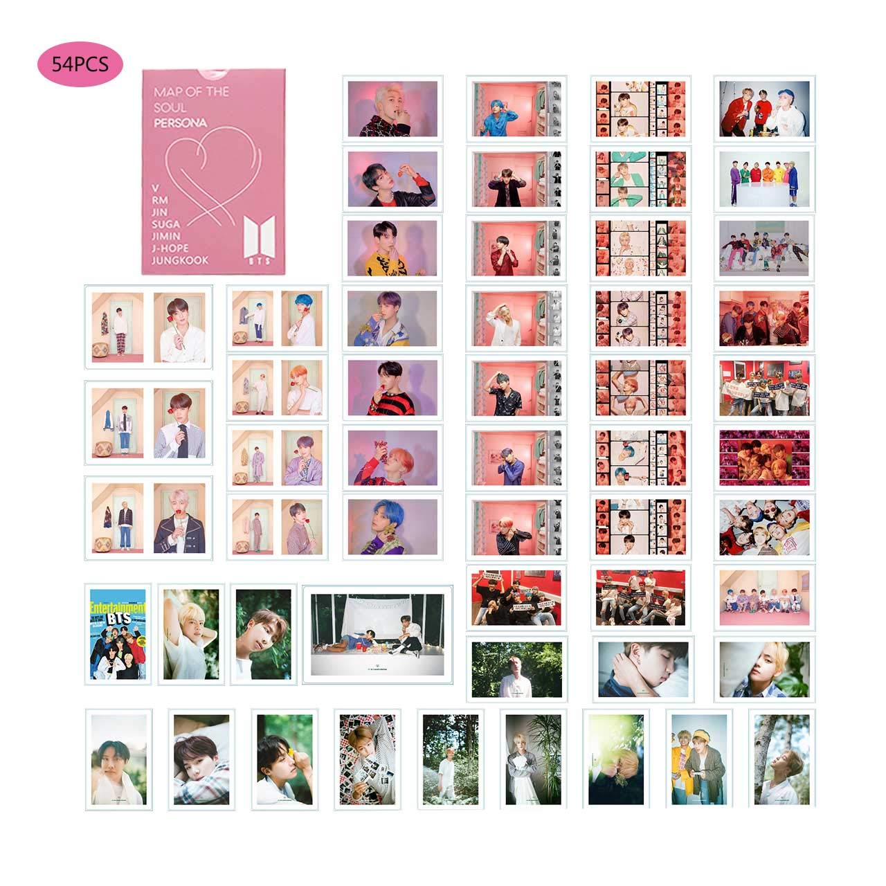 Álbum de cartas BTS MAP OF THE SOUL Pesona New BTS LOMO y ...