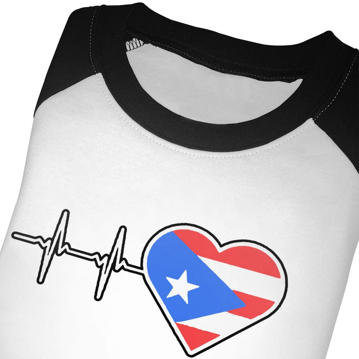Boys Girls Kids /& Toddler Puerto Rico Heartbeat Long Sleeve T-Shirt 100/% Cotton