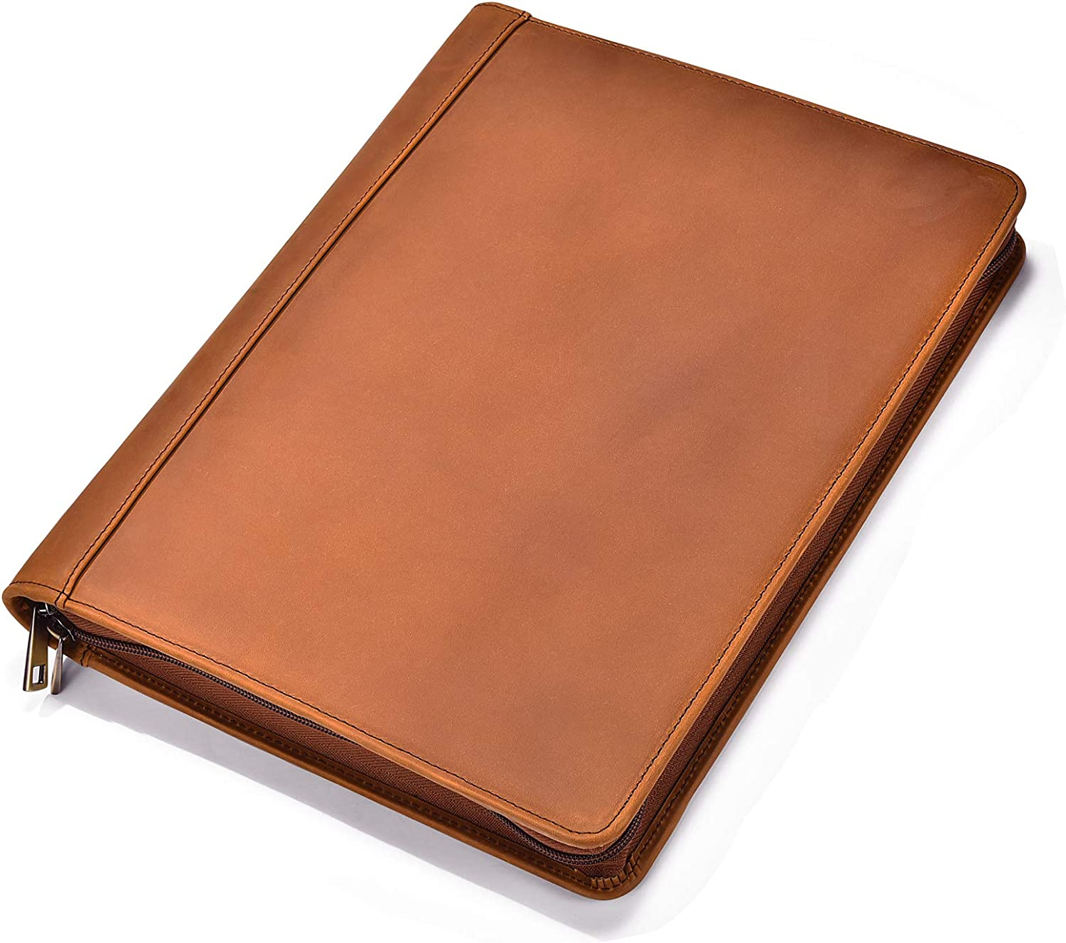File Folder Padfolio Thin Resume Folder Folder Manager PU Leather Notepad for Right and Left Business Men and Women Document Organizer Color : Blue, Size : 325x245mm