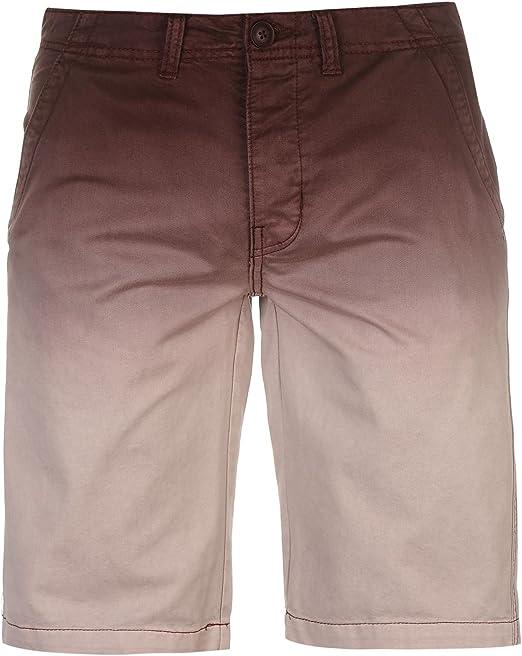 Pierre Cardin Hombre Chino Shorts Ligeros 100% Algodón Tinte de Inmersión Ombre - Multicolor - Small-X Large Sizes Available