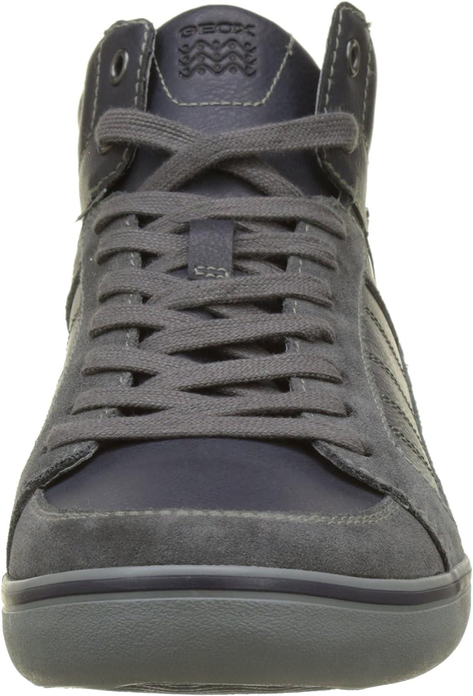 Geox U Box E, Zapatillas Altas para Hombre Gris Anthracite Navy