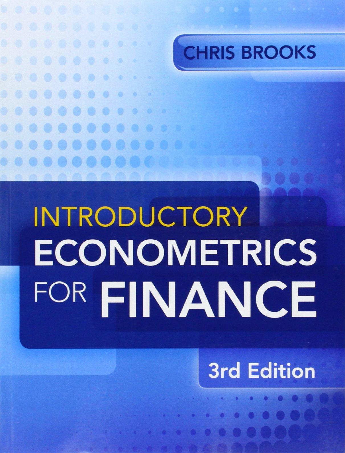 Introductory Econometrics for Finance: Amazon.co.uk: Chris Brooks:  9781107661455: Books