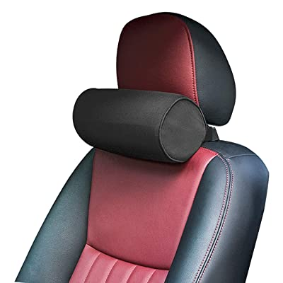 Dreamer Car Neck Pillow for Car/High Density Memory Foam Car Neck Support Roll Neck Pillow for Neck Fatigue Relief, Black: Home & Kitchen