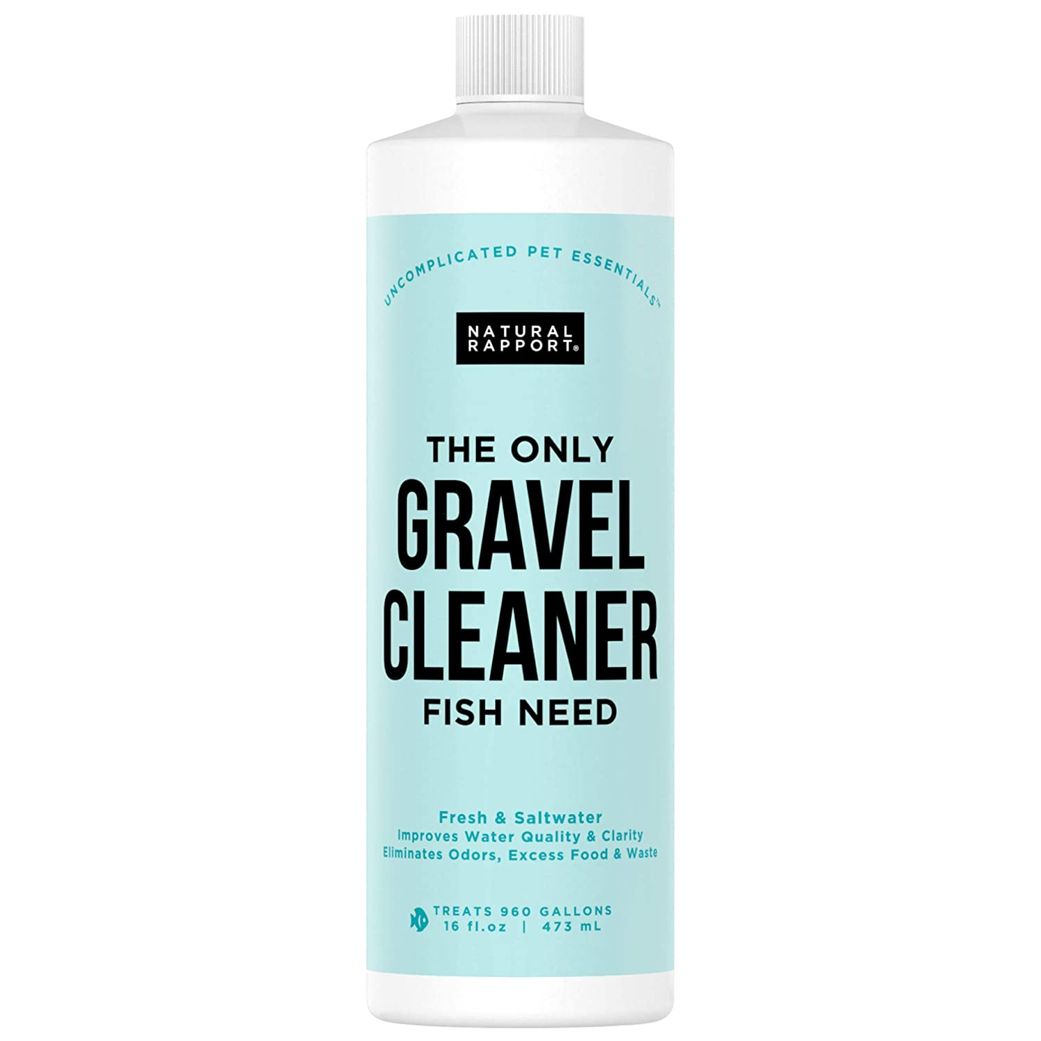 Natural Rapport Aquarium Gravel Cleaner - The Only Gravel Cleaner Fish Need - Professional Aquarium Gravel Cleaner to Naturally Maintain a Healthier Tank, Reducing Fish Waste & Toxins (16 fl oz)