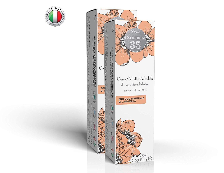 Calendula 35 - Crema protectora para el cambio de pañal - Ideal para niños - Natural - 100 % Made in Italy - 75 ml: Amazon.es: Belleza