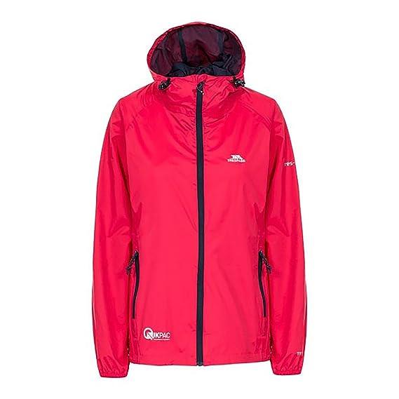 6f1a474be Trespass Womens/Ladies Qikpac Waterproof Packaway Shell Jacket (XXS)  (Raspberry)