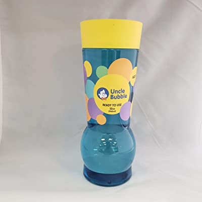 Uncle Bubble Refill ( Yellow Cap) 32 OZ Ready to use Bubble Solution: Toys & Games
