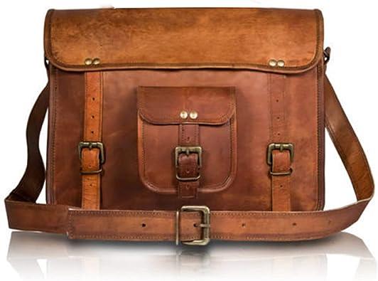 """Handmade Men/'s Vintage Leather Messenger Shoulder 11/"""" Business Work Bag #1"""