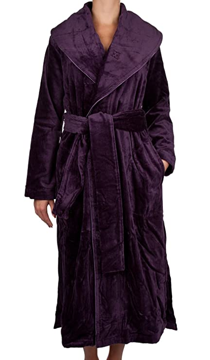 Escada Women\'s Dressing Gown Velours Aubergine, aubergine, Small ...
