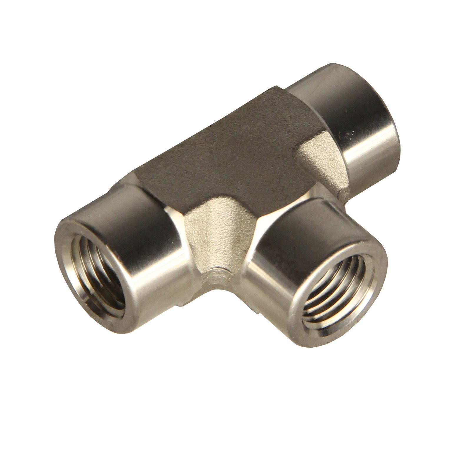 HFS (R) TEE Fitting - Female FNPT 3-Way Tee Stainless (1/2'' Female NPT)