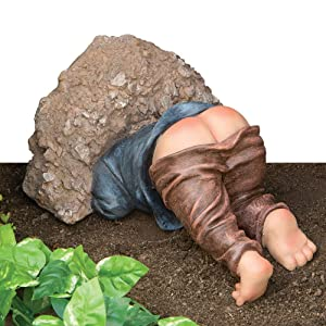 Bits and Pieces - Little Digger Funny Garden Statue - Made of Durable Polyresin - Makes Perfect Garden Sculpture