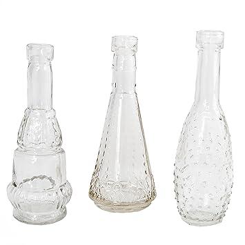 Amazon De Annastore 12 Stuck Deko Glasflaschen Vasen H 12 Cm