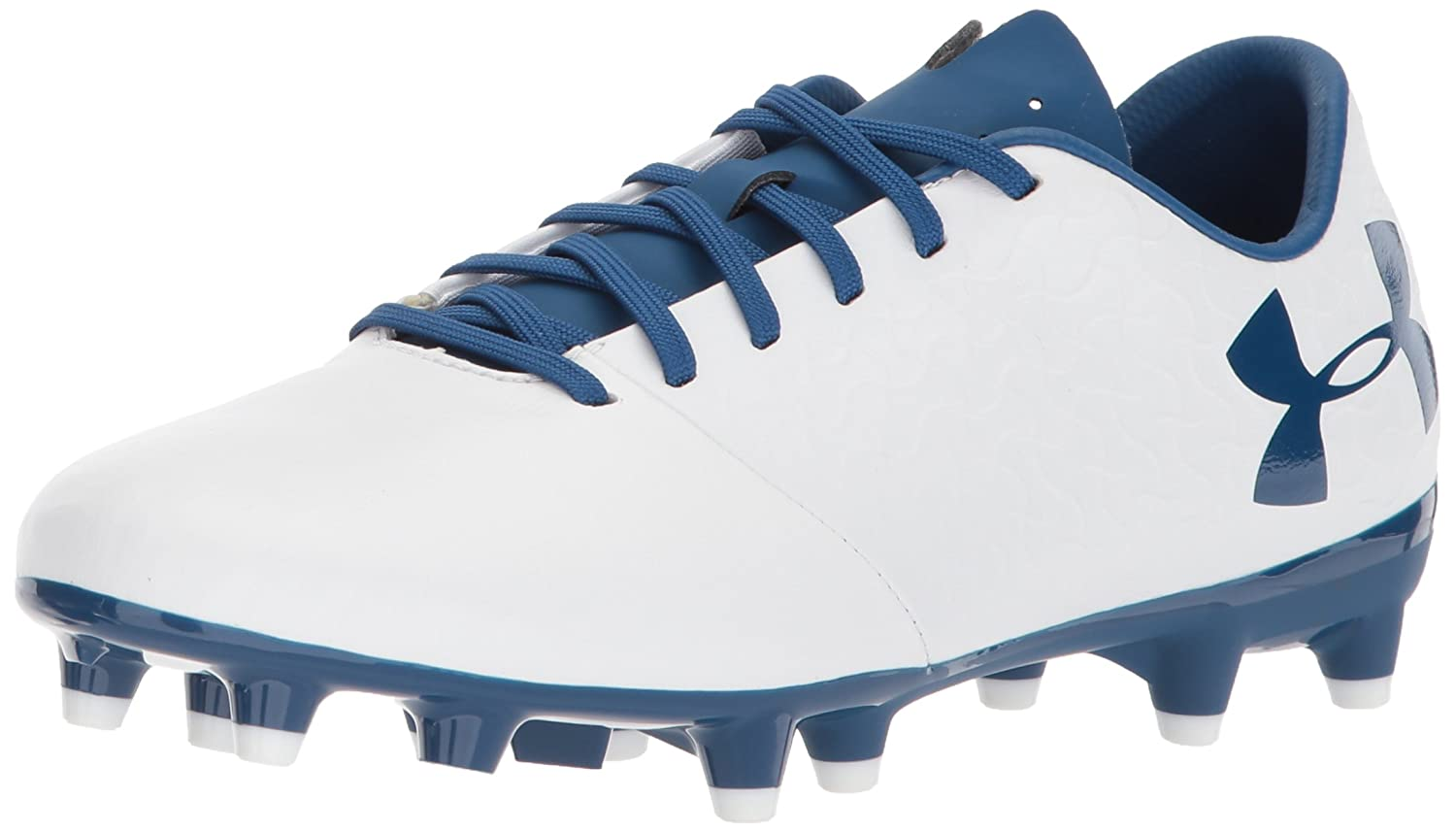 Under Armour Magnetico Select JR Firm Ground Sneaker B071Z8YDRB 1 M US|White (101)/Moroccan Blue