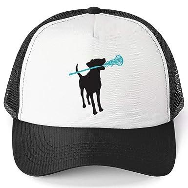 98be7ced Amazon.com: Girls Lacrosse Trucker Hat | Lax Dog | Black: Clothing