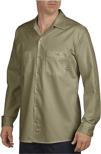 Dickies Camisa de Manga Larga Industrial Trabajo Algodón - LL307: Amazon.es: Ropa y accesorios