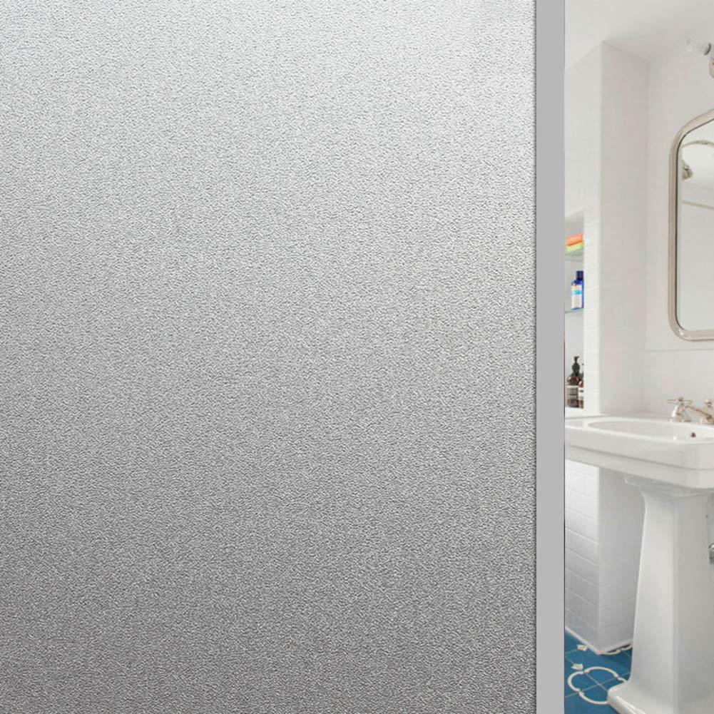 DULPLAY Givré Privée Films pour fenêtre, Statique S'accrochent dépoli Film vitre Translucide Anti UV Aucune Colle Adapté de la Lisse Verre Surface Bureau à Domicile-A 30x2700cm(12x1063inch)
