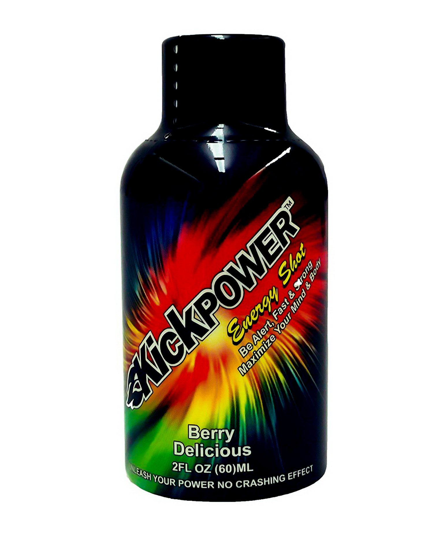 KickPower Energy Shots - Berry Delicious, 2 Ounce Shot Bottles (Pack of 12)